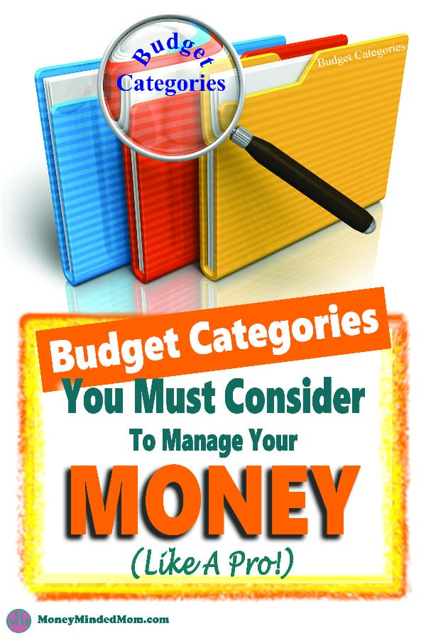 Ideas of budget categories you need to consider