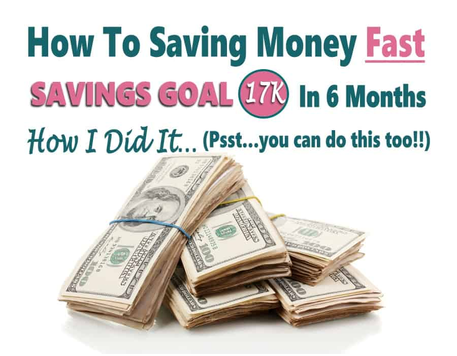 Savings Goal - How to save money fast