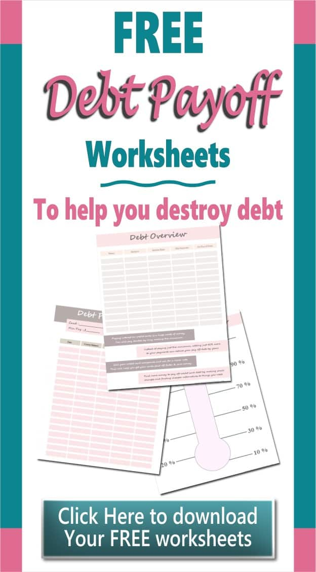 Debt Payoff Worksheet Printables