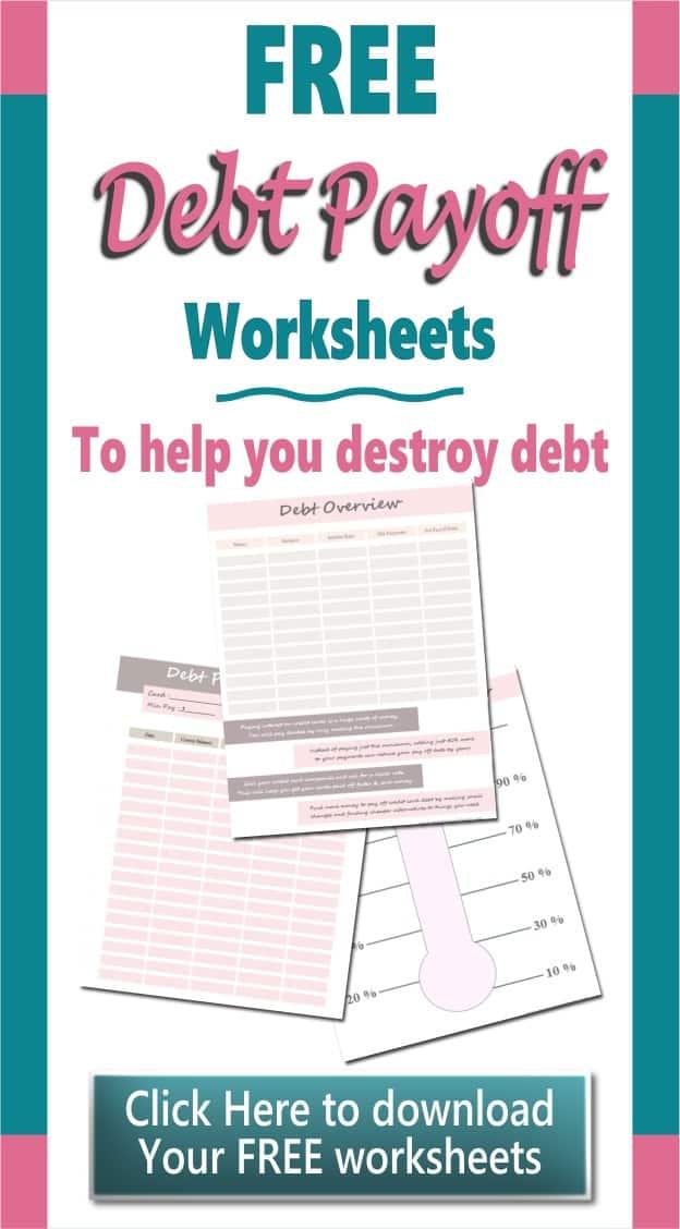Debt Payoff Worksheet Printables