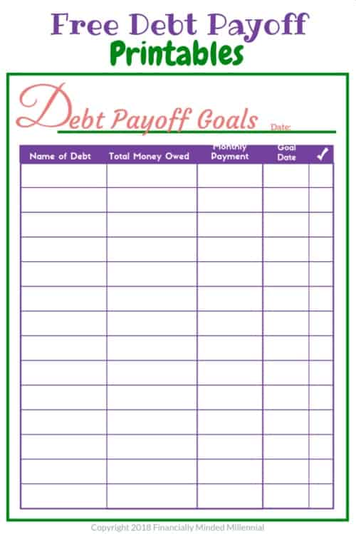 Free Debt Payoff Printable