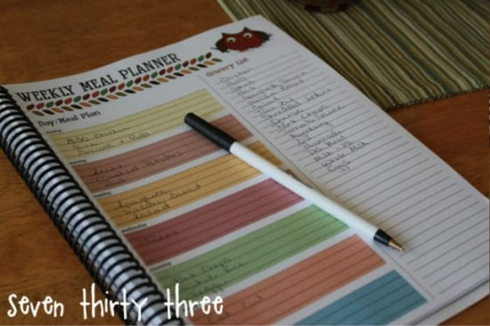 Weekly Meal Planning Template with Grocery List