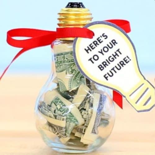 Bright Future Bulb Money Gift Idea