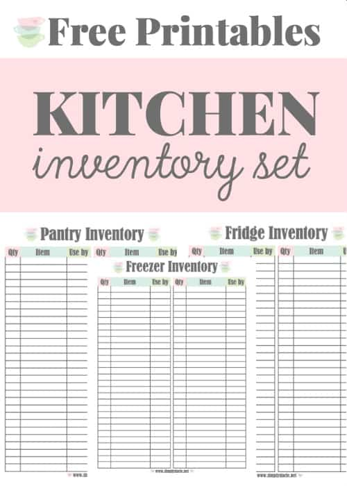 Kitchen Inventory Printables Set