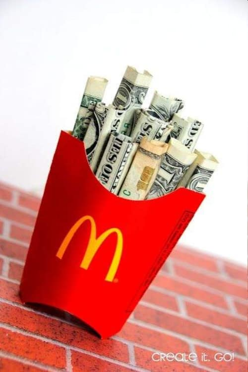 French Fries Money Gift Idea