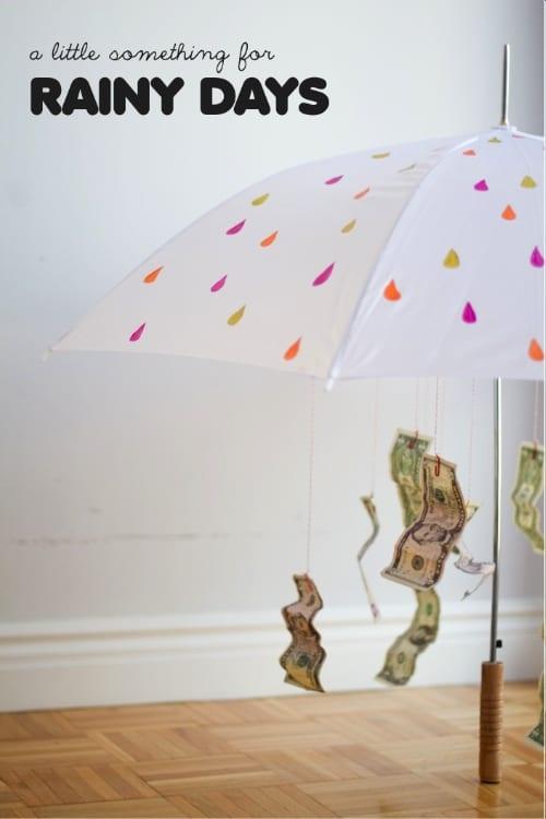 Rainy Day Money Gift Idea