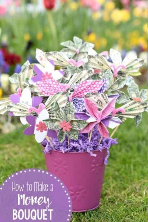 Spring Bouquet Money Gift Idea