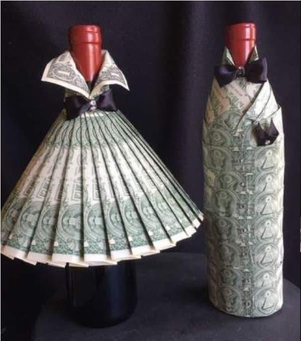 Wine Bottle Money Gift Idea