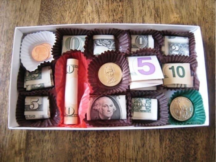 Box of Chocolates With Money