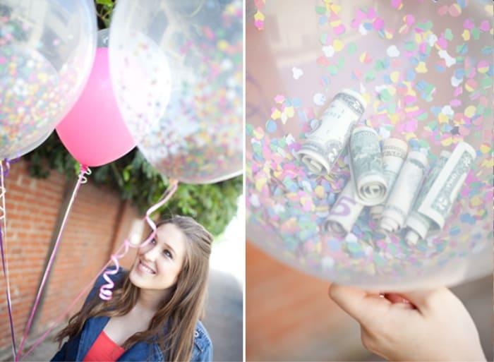 Confetti Money Balloon