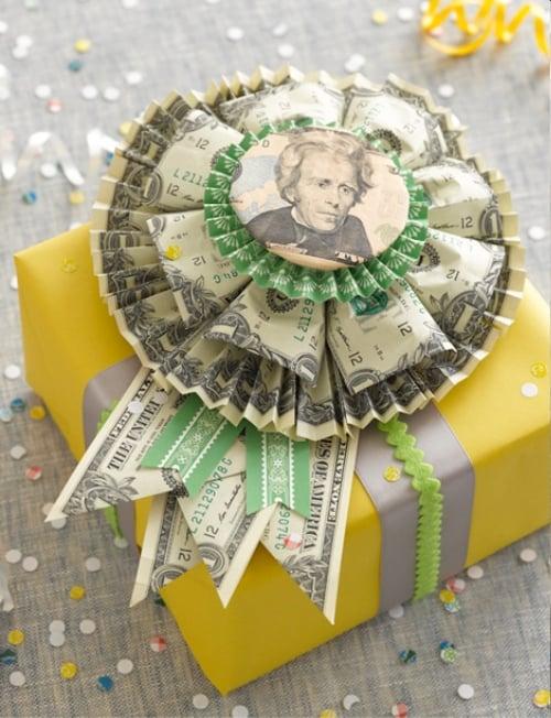 Rosette Bow Money Gift Idea