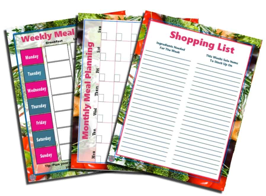 Meal Planning Printable Templates