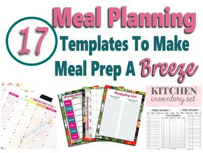 Meal Planning Templates To Make Meal Prep Easy