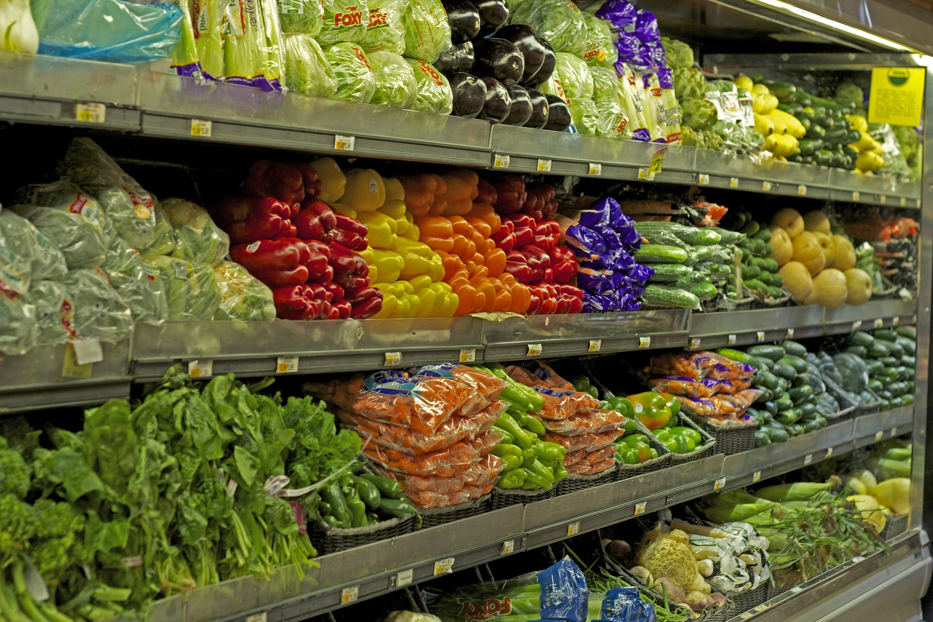 Produce In A Grocery Store - vegetables