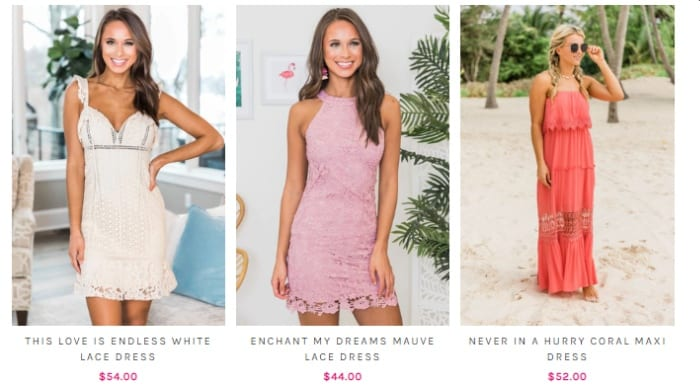 Pink Lily affordable online boutique