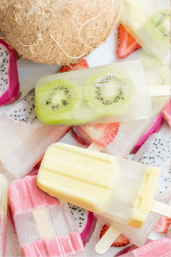 Coconut Water Fruit Popsicle
