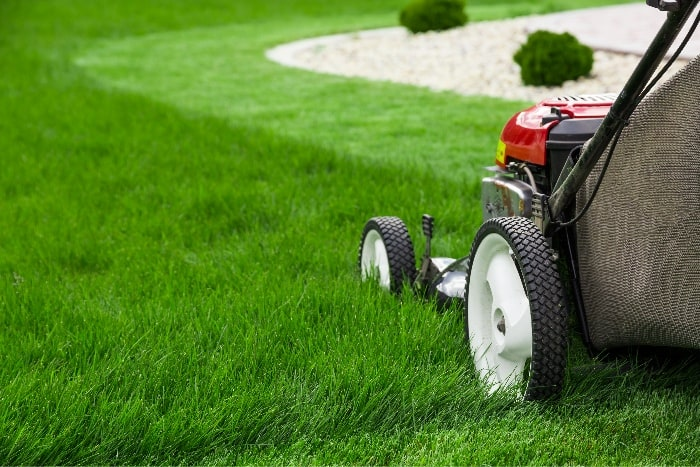 Start a lawn mowing business to make money as a kid