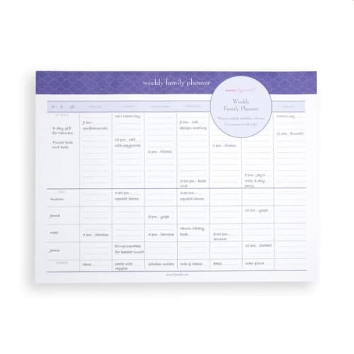 Mom Agenda Weekly Family Planner