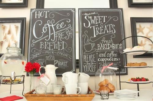 DIY rustic farmhouse coffee house chalkboard menu