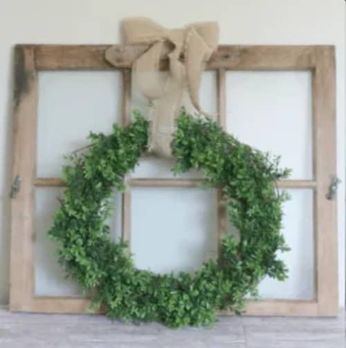 Boxwood wreath project DIY