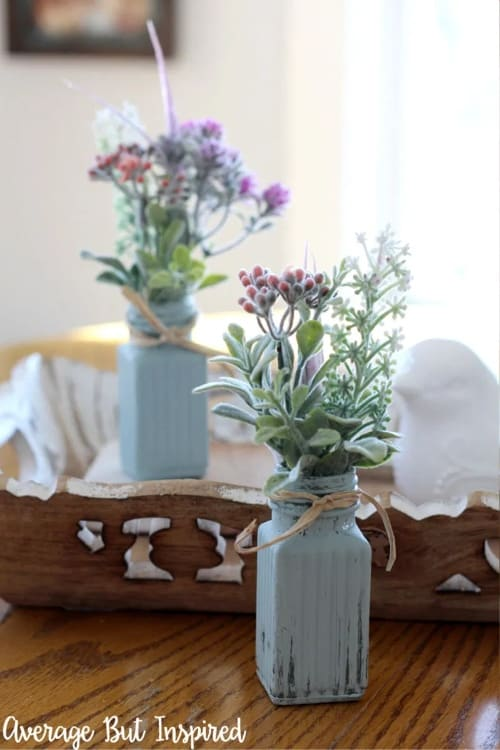 Mini farmhouse bud vase decor accent