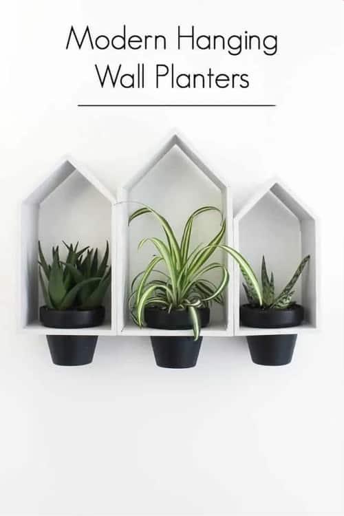 DIY Farmhouse decor hanging wall planter