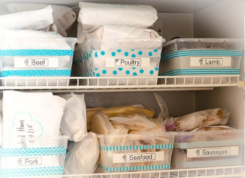 Label your freezer sections to make things easy to find