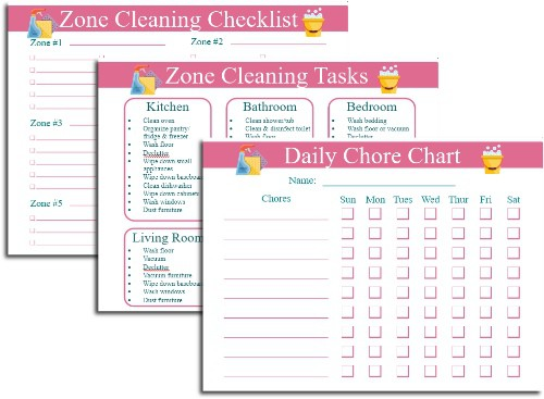 Zone Cleaning Schedule Printables