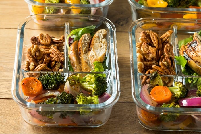 Meal prepped lunchbox ideas