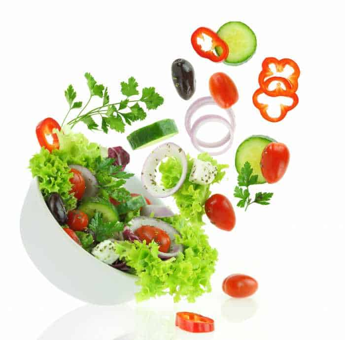 Garden salad with fresh vegetables