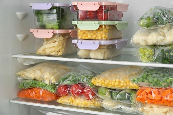 Freezer meals prepped