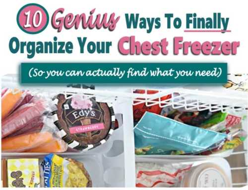 How to Organize a Chest Freezer (To actually find what you need…)