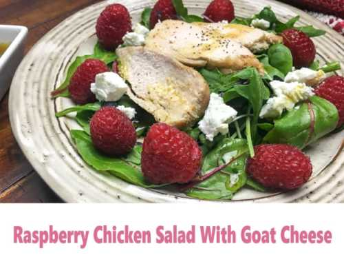 Raspberry Salad With Chicken And Goat Cheese