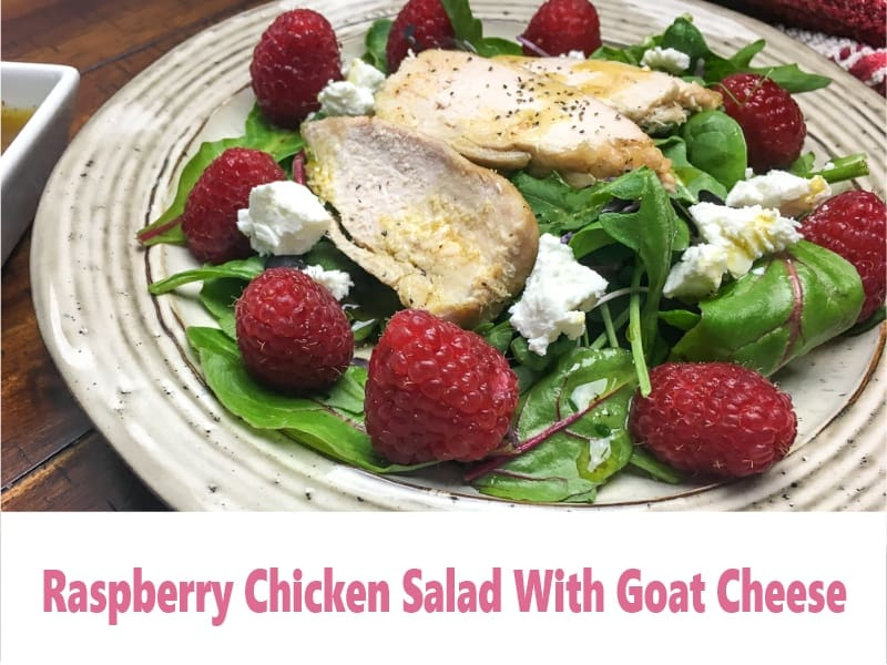 Raspberry Chicken Salad With Goat Cheese