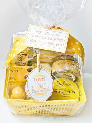 Lemon themed gift basket