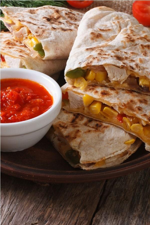 Easy Chicken Quesadilla Recipe With Leftover Chicken