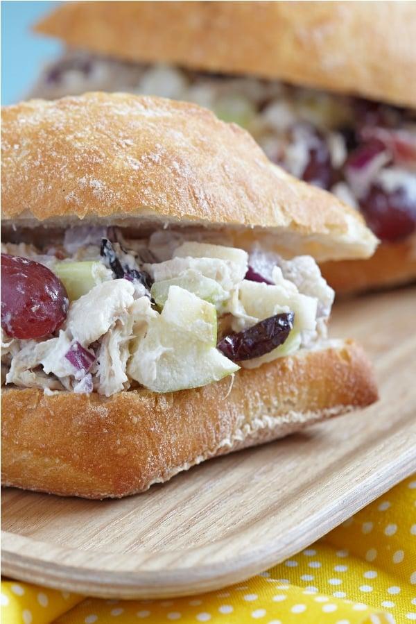 Leftover Chicken Salad Sandwich Cranberry