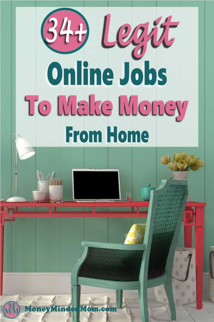 34 Legit online jobs to make money from home