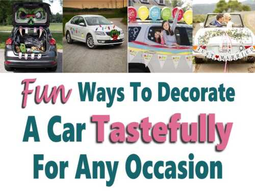 Ways To Decorate A Car Tastefully For Any Occasion (without damage)
