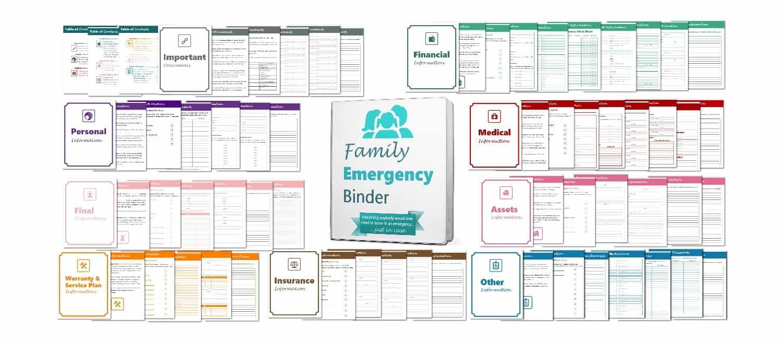 Family Emergency Binder Worksheets