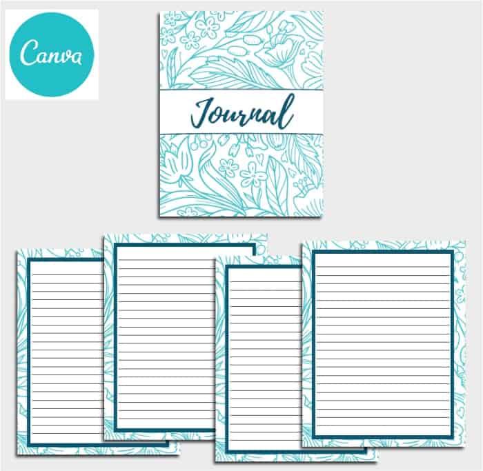 Floral Journal Template PLR