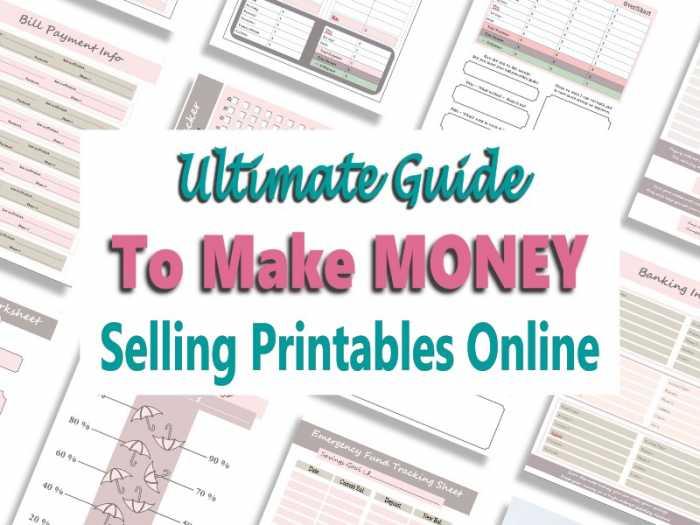 Make Money Selling Printables
