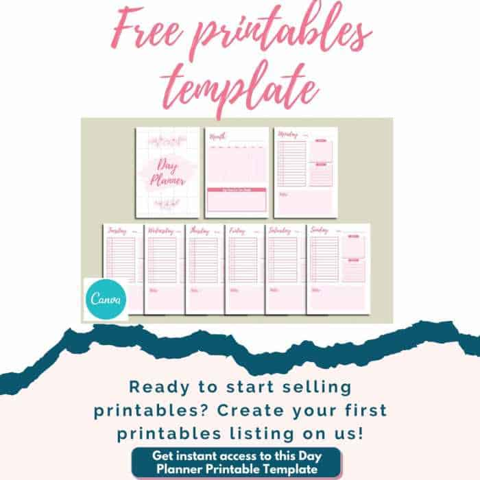 Free Day Planner Printables To Sell